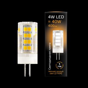 Лампа Gauss LED G4 AC185-265V 4W 400lm2700K керамика 1/10/200