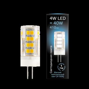 Лампа Gauss LED G4 AC185-265V 4W 410lm 4100K керамика 1/10/200