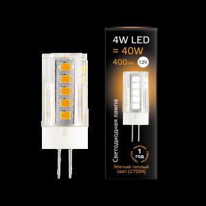 Лампа Gauss LED G4 12V 4W 400lm 2700K керамика 1/10/200