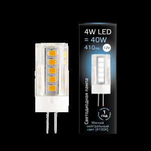 Лампа Gauss LED G4 12V 4W 410lm4100K керамика 1/10/200