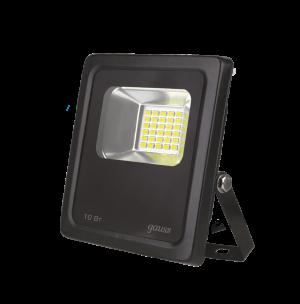 Прожектор светодиодный Gauss LED 10W 700lm IP65 6500К черный 1/60