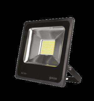 Прожектор светодиодный Gauss LED 50W 3500lm IP65 6500К черный 1/40