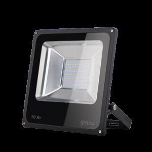 Прожектор светодиодный Gauss LED 70W 4600lm IP65 6500К черный 1/24