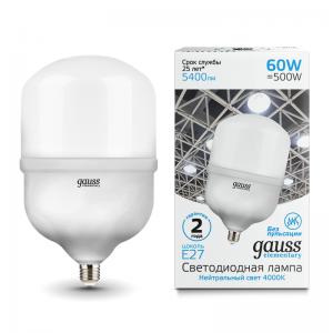 Лампа Gauss Elementary LED T160 E27 60W 5400lm 5400lm 180-240V 4000K