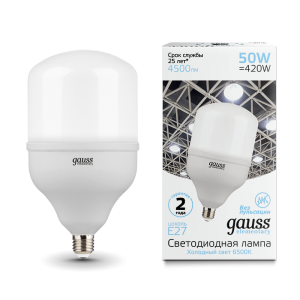 Лампа Gauss Elementary LED T140 E27 50W 4500lm 180-240V 6500K 1/8