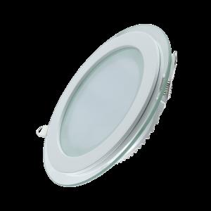 Светильник Gauss, круглый с декоративным стеклом, 200х30,?155, 18W 3000K 1390лм 1/20
