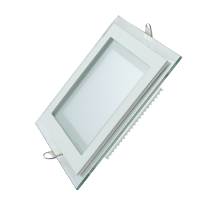 Светильник Gauss, квадратный с декоративным стеклом,160х160х30, ?118x118  12W 3000K, 900 лм 1/40