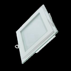 Светильник Gauss, квадратный с декоративным стеклом,200х200х30, ?150х150, 18W 3000K, 1390лм 1/20