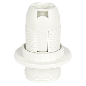 Ecola base Патрон  с кольцом E14 Белый(1 из ч/б уп. по 10)