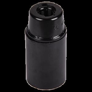 Ecola base Патрон  подвесной карболит E14 Черный