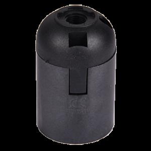 Ecola base Патрон  подвесной E27 Черный(1 из ч/б уп. по 10)