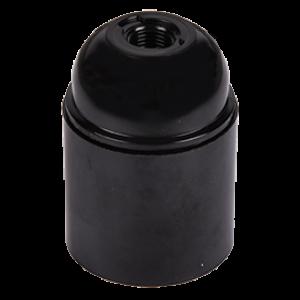 Ecola base Патрон  подвесной карболит E27 Черный