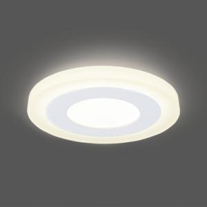 Светильник Gauss Backlight BL114 Кругл. 3+3W, LED 3000K, 350лм,105х31мм,?85 1/40