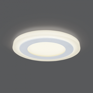 Светильник Gauss Backlight BL116 Кругл. 6+3W, LED 3000K, 540лм,145х31мм,?120, 1/40