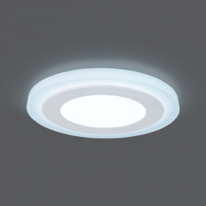 Светильник Gauss Backlight BL117 Кругл. 6+3W, LED 4000K, 540лм,145х31мм,?120, 1/40