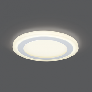 Светильник Gauss Backlight BL118 Кругл. 12+4W, LED 3000K, 960лм,190х31мм,?170, 1/20