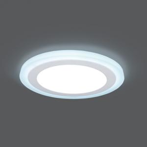 Светильник Gauss Backlight BL119 Кругл. 12+4W, LED 4000K, 960лм,190х31мм,?170, 1/20