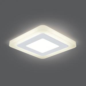 Светильник Gauss Backlight BL120 Квадрат. 3+3W, LED 3000K, 350лм,105х105x31мм,?85, 1/40