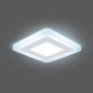 Светильник Gauss Backlight BL121 Квадрат. 3+3W, LED 4000K, 350лм,105х105x31мм,?85, 1/40