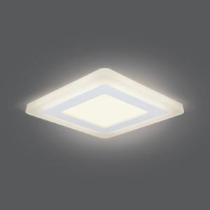 Светильник Gauss Backlight BL122 Квадрат. 6+3W, LED 3000K, 540лм,145х145x31мм,?120, 1/40