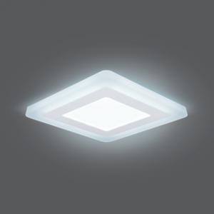 Светильник Gauss Backlight BL123 Квадрат. 6+3W, LED 4000K, 540лм,145х145x31мм,?120, 1/40