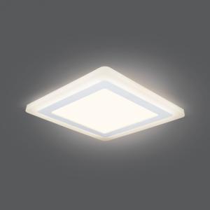 Светильник Gauss Backlight BL124 Квадрат.12+4W, LED 3000K, 960лм,190х190x31мм,?170, 1/20