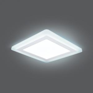 Светильник Gauss Backlight BL125 Квадрат.12+4W, LED 4000K, 960лм,190х190x31мм,?170, 1/20