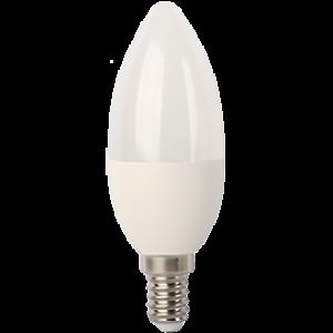 Ecola Light candle   LED  7,0W 220V E14 4000K свеча (композит) 105x37