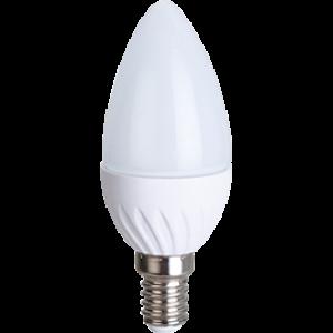 Ecola Light candle   LED  5,0W 220V E14 2700K свеча 100x37