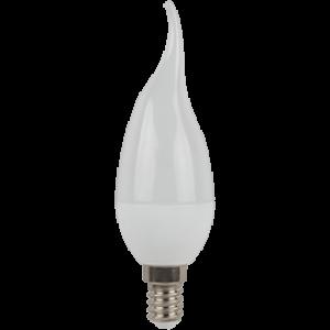 Ecola candle   LED  7,0W 220V E14 6000K свеча на ветру (композит) 130x37