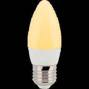 Ecola candle   LED  6,0W 220V E27 золотистая свеча (композит) 101x37