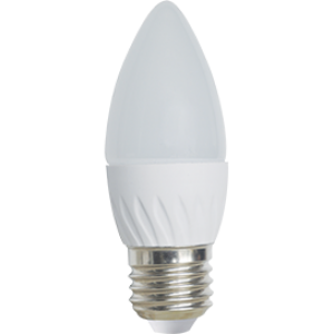 Ecola Light candle   LED  5,0W 220V E27 4000K свеча 100x37