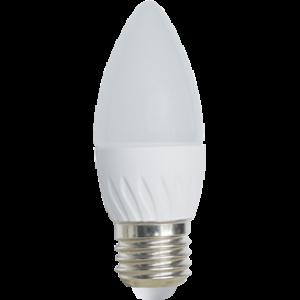 Ecola Light candle   LED  5,0W 220V E27 2700K свеча 100x37