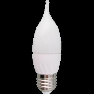 Ecola candle   LED  5,3W 220V E27 2700K свеча на ветру (композит) 38x133