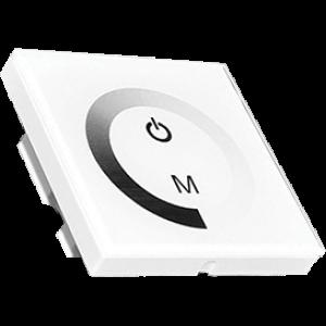 Ecola LED Strip Dimmer Panel 12A 144W 12V (288W 24V) настенный белый с кольцевым сенсором с установ. коробкой