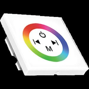 Ecola LED Strip RGB Controller 12A 144W 12V (288W 24V) настенный белый с кольцевым сенсором с установ. коробкой