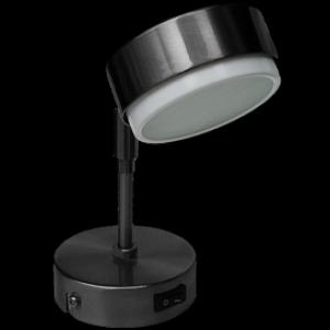 Ecola GX53 FT4173 светильник поворотный на среднем кроншт. черный хром 210х80
