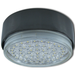 Ecola GX53 FT8073 светильник накладной черный хром 25x82