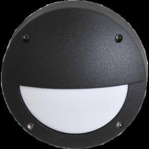 Ecola GX53 LED B4140S светильник накладной IP65 матовый Круг с ресничкой  алюмин. 1*GX53 Черный 145x145x65