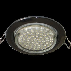 Ecola GX53 H4 светильник встраив. без рефл.  Черный хром 38x106 - 2pack (кd102)