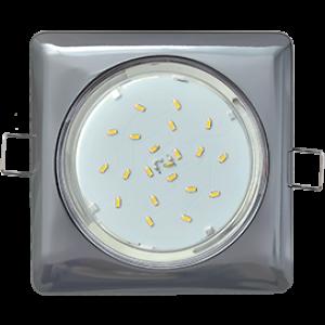 Ecola GX53 H4  Square светильник квадратный без рефл. Черный хром 107x41 (к+)