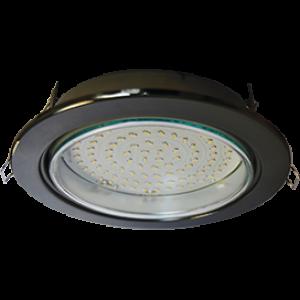 Ecola GX70-H5 светильник встраив. без рефл. Черный хром 53x151 (Kd135)