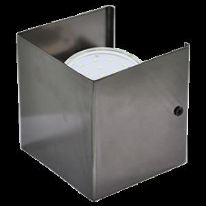 Ecola GX53-N51 светильник настенный бра прямоугольный черный хром 1* GX53 100х100х90 (1 из цв. уп. по 2)