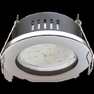 Ecola GX53 H9 защищенный IP65 светильник встраив. без рефл. хром 98х55