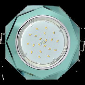 Ecola GX53 H4 5312 Glass Стекло 8-угольник с прямыми гранями хром - изумруд 38x133 (к+)