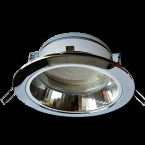 Ecola GX70-H6R светильник хром встр. с рефл.  65x171