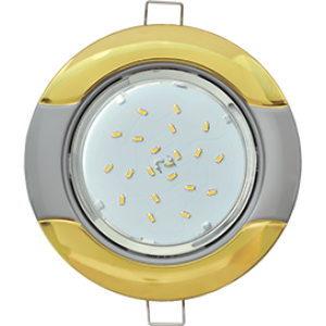 "Ecola GX53 H4 9012 светильник встраив. без рефл. ""Волна"" золото-серебро 38x116 (к+)"