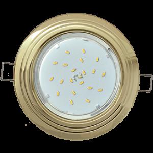 """Ecola GX53 H4 9010 светильник встраив. без рефл. """"2 круга"""" Золото 43x115 (к+)"""