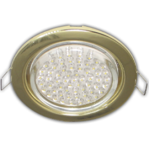 Ecola GX53 H4 Downlight without reflector_gold (светильник) 38x106 - 10 pack (кd102)