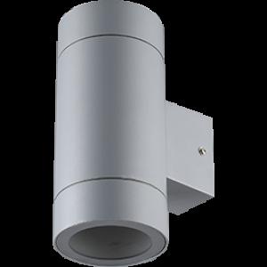 Ecola GX53 LED 8013A светильник накладной IP65 прозрачный Цилиндр металл. 2*GX53 Серый матовый 205x140x90